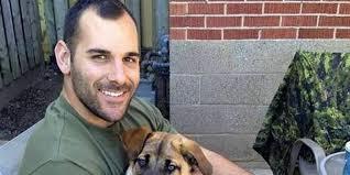 Nathan Cirillo with his dog